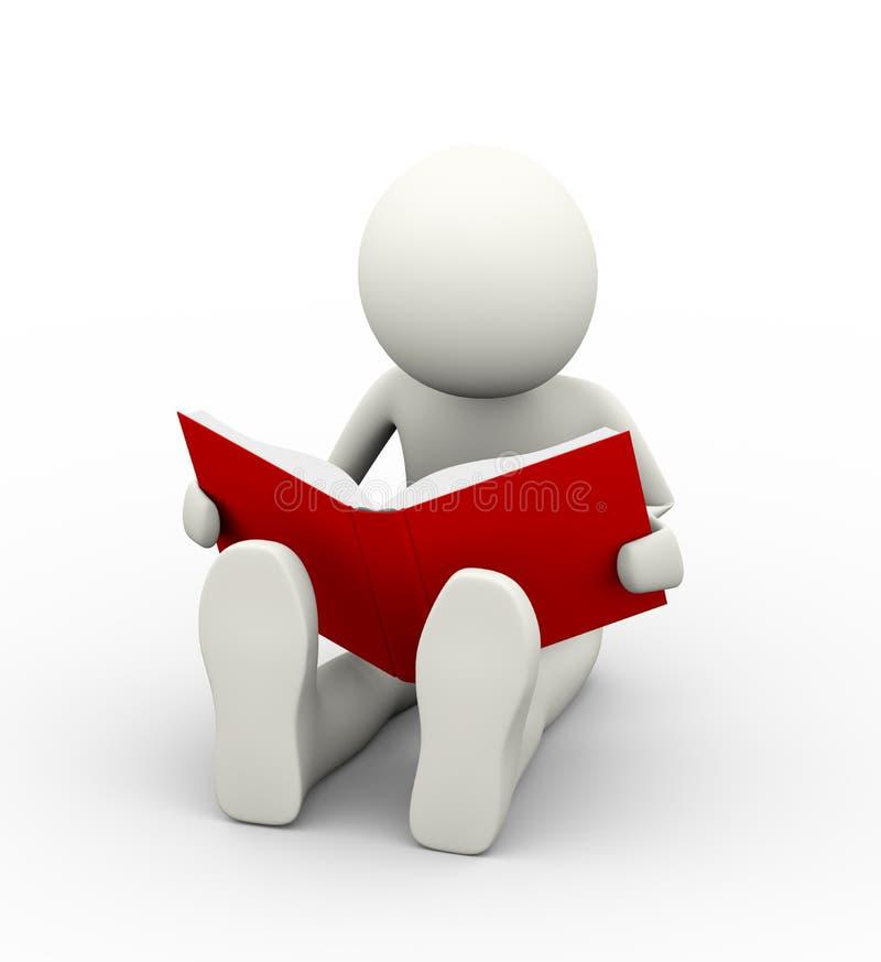 3d书人读取 库存例证