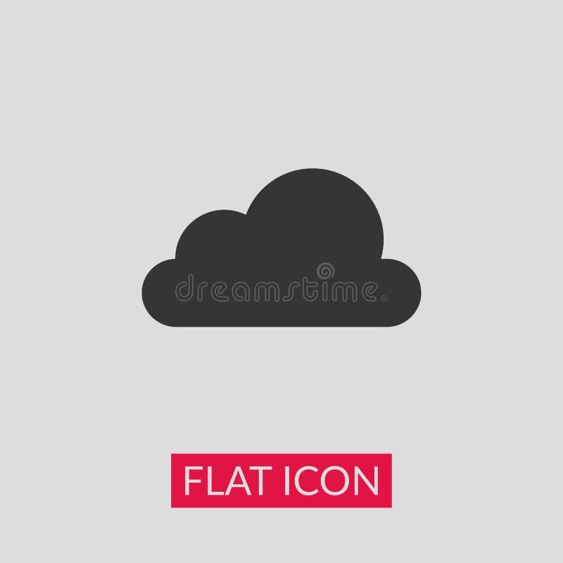 3d云彩图标设计白色 皇族释放例证