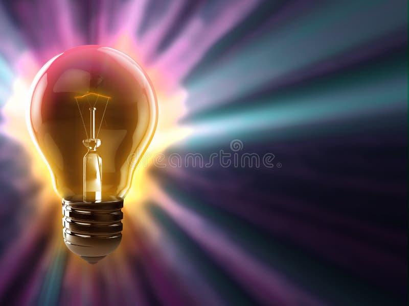 电灯泡五颜六色的背景 图库摄影