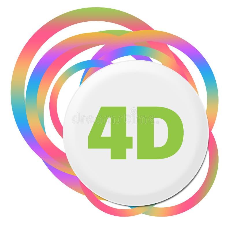 4D五颜六色的抽象圆环 皇族释放例证