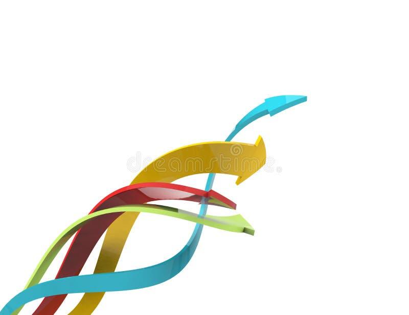 3d五颜六色的箭头 向量例证