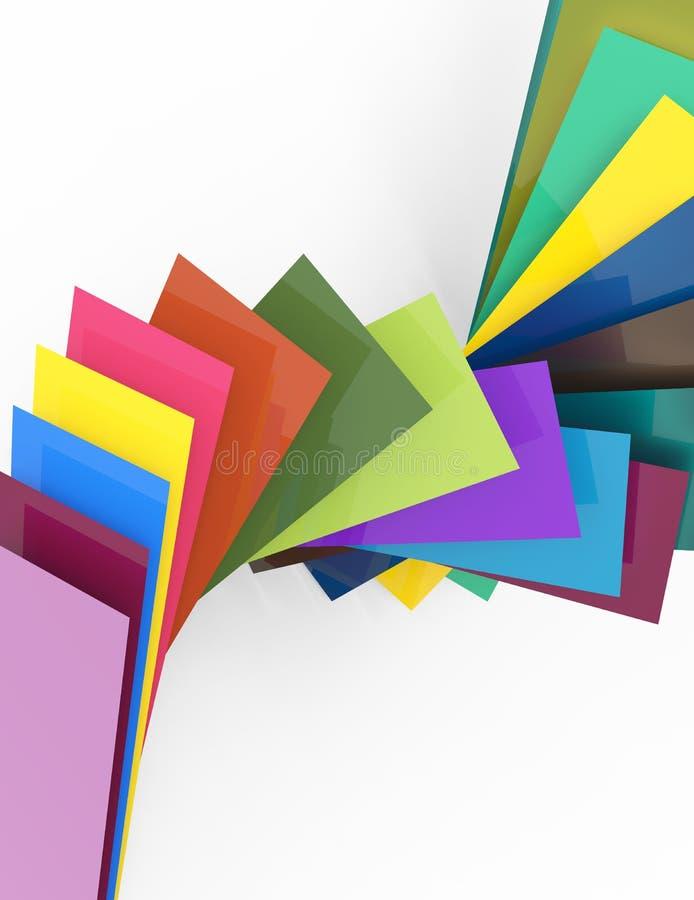 3d五颜六色的背景 库存例证
