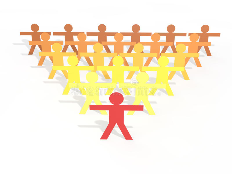 3d人棍子计算领导概念 向量例证