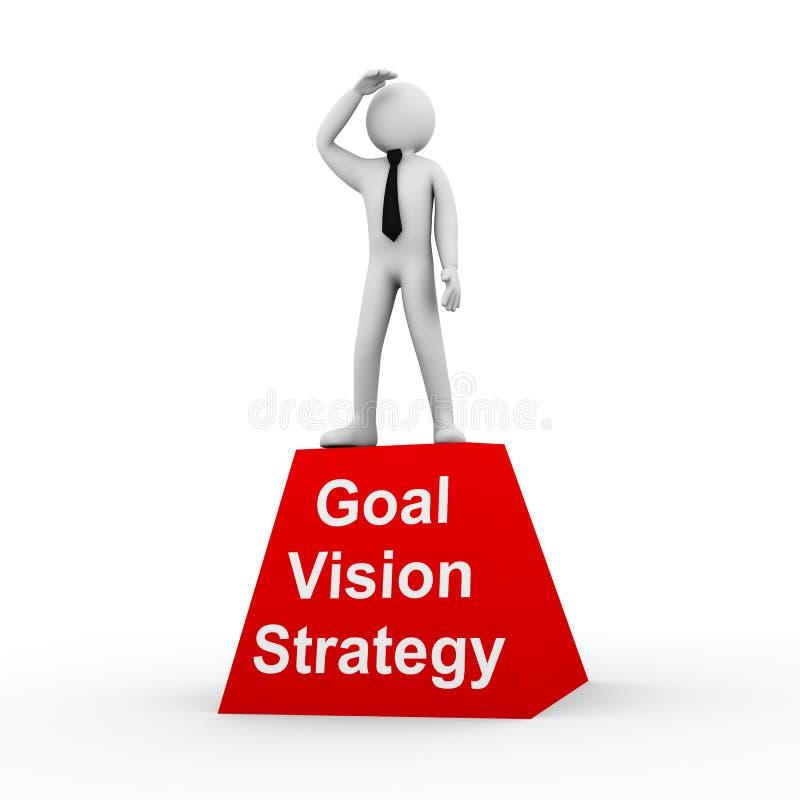 3d人目标视觉战略 向量例证