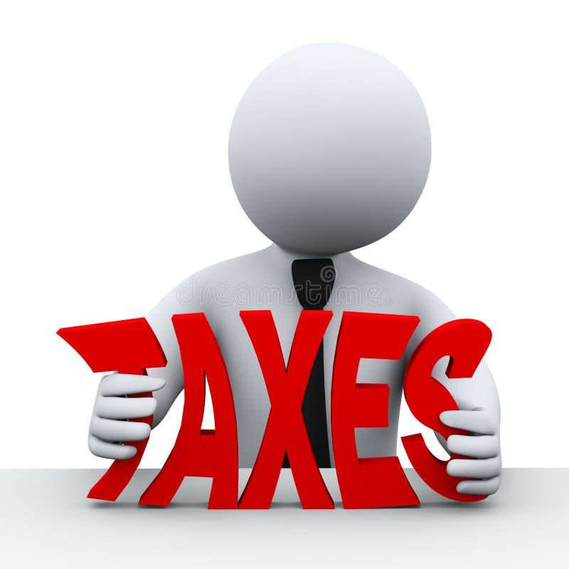 3d人税收减少 库存例证