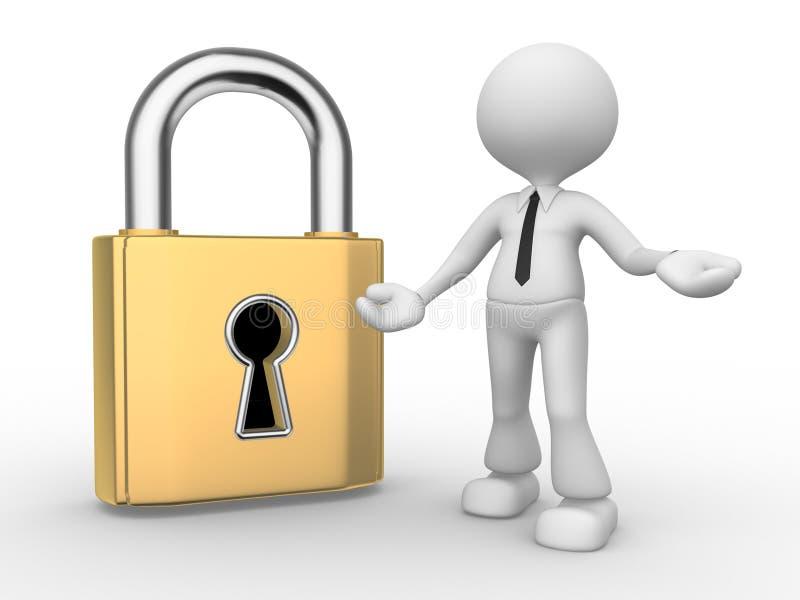 锁 库存例证