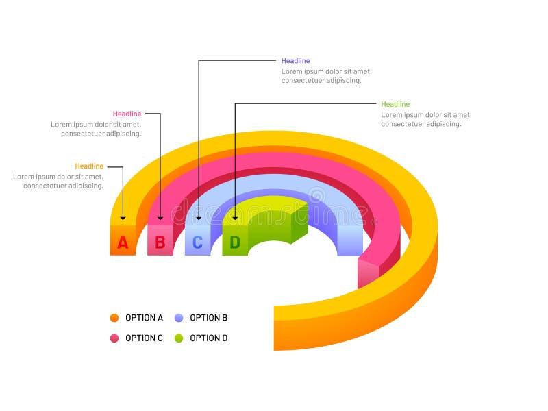 3D企业成长或成功概念, infograph的例证 皇族释放例证