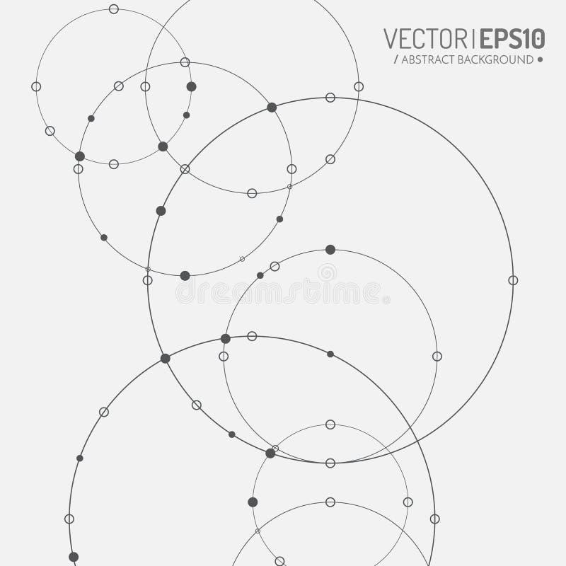 3d企业或科学介绍的几何传染媒介背景 皇族释放例证