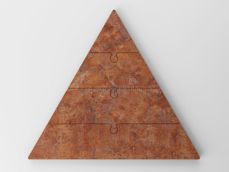 3d企业概念层次结构金字塔 向量例证