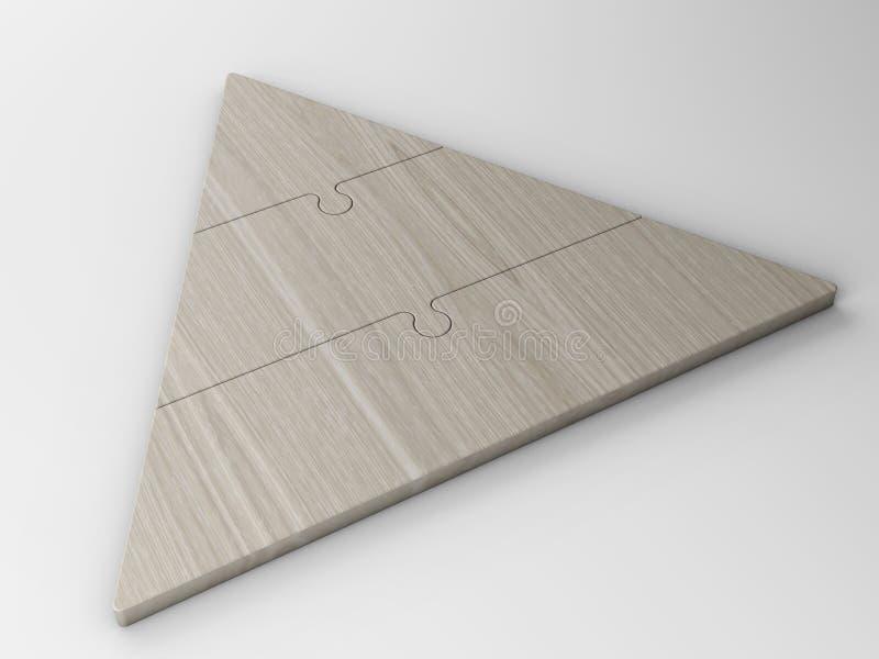 3d企业概念层次结构金字塔 皇族释放例证