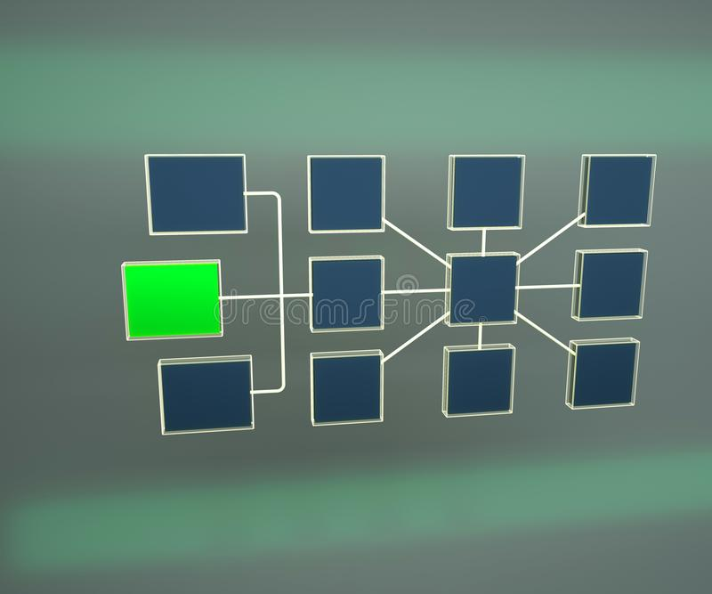 3d企业网络拓扑结构的例证 网络拓扑结构结构  网络连接 ?? 向量例证