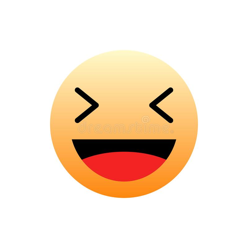3D传染媒介哈哈意思号人脉的象设计 背景查出的白色 现代Emoji 向量例证