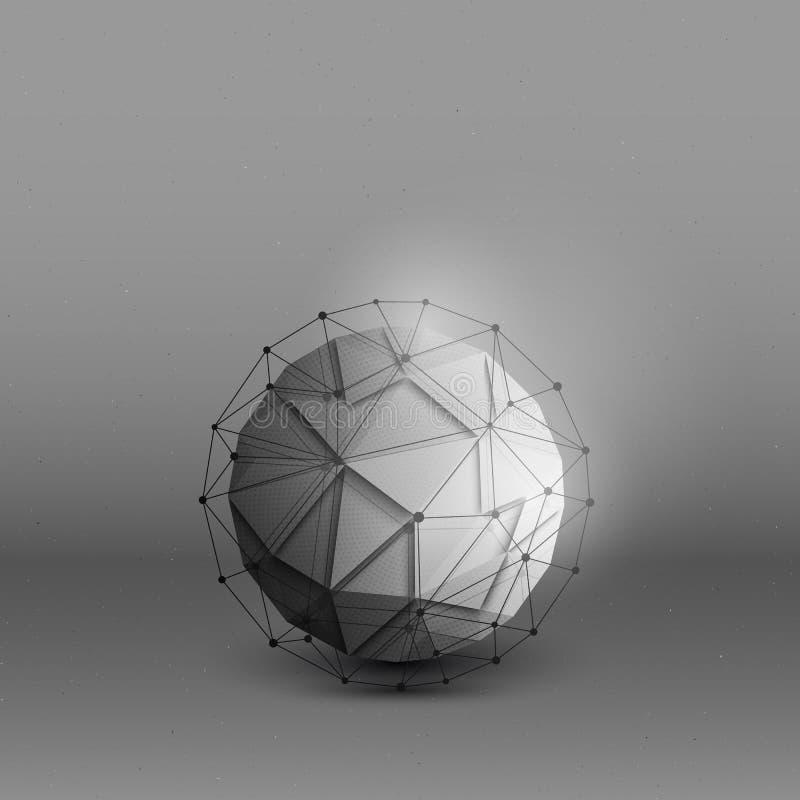 3d传染媒介技术背景 库存例证