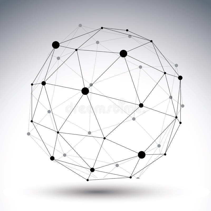 3D传染媒介摘要技术例证 向量例证