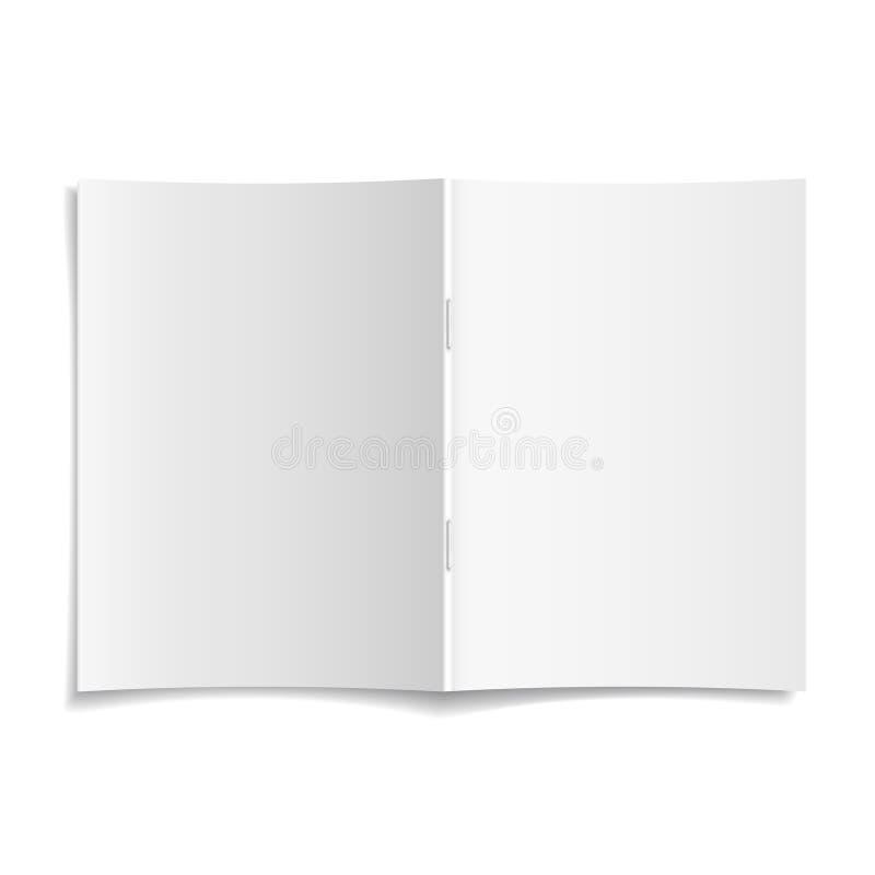 3d传染媒介空白被打开的杂志封面模板 向量例证