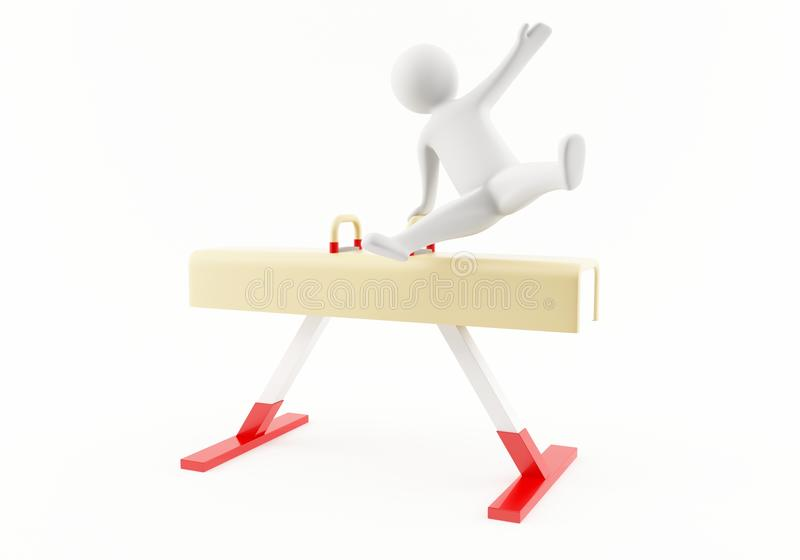 3D体操运动员 免版税库存照片