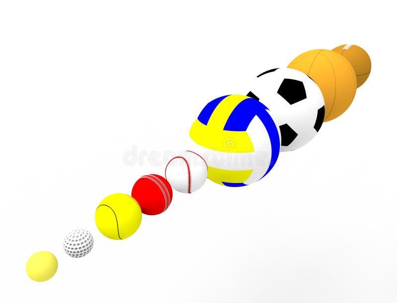 3d体育球行的翻译在白色背景隔绝的 皇族释放例证