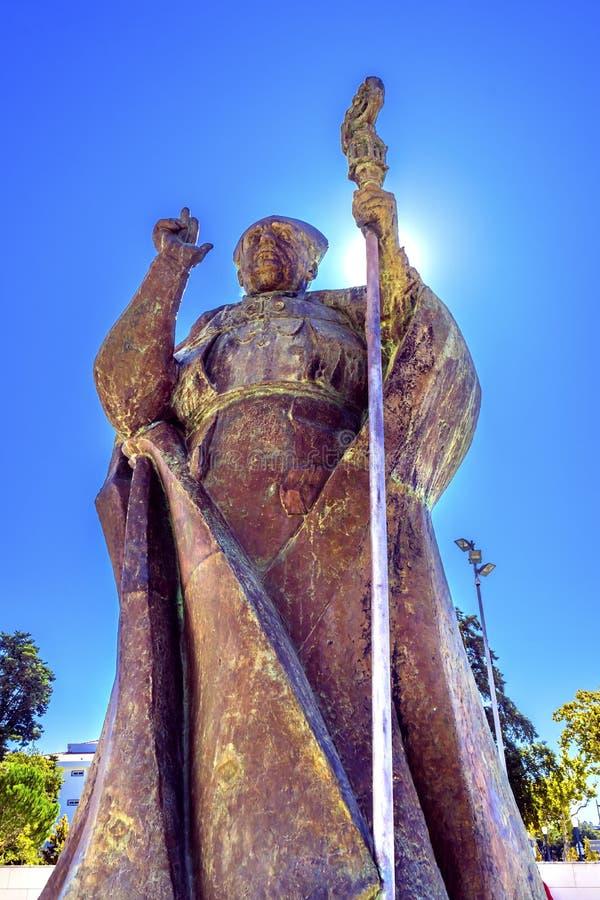 D何塞Alves科雷亚达席尔瓦念珠法蒂玛葡萄牙的雕象夫人 免版税图库摄影