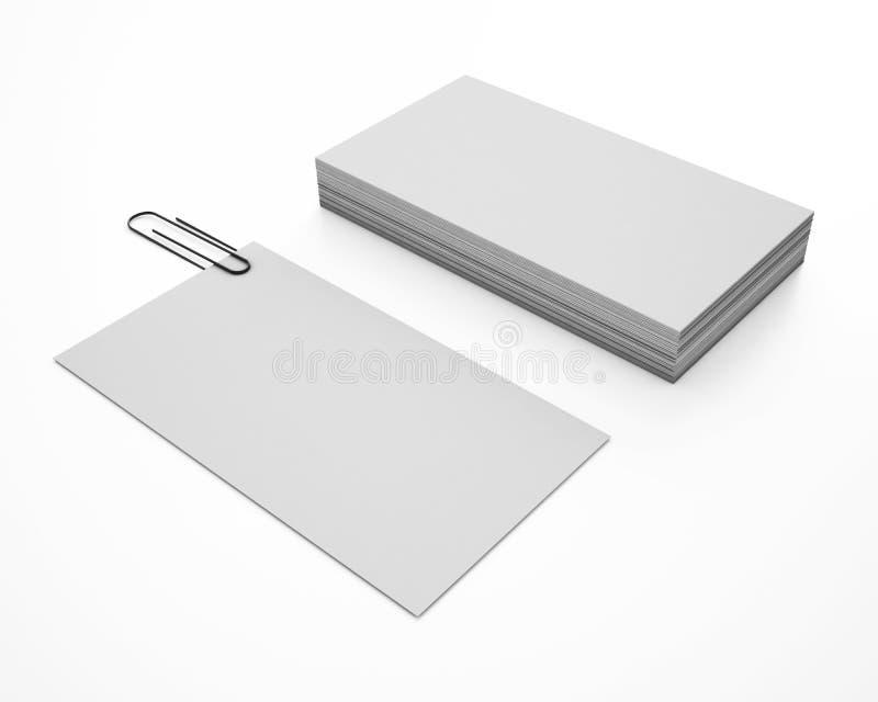 3d例证在白色背景的名片 皇族释放例证