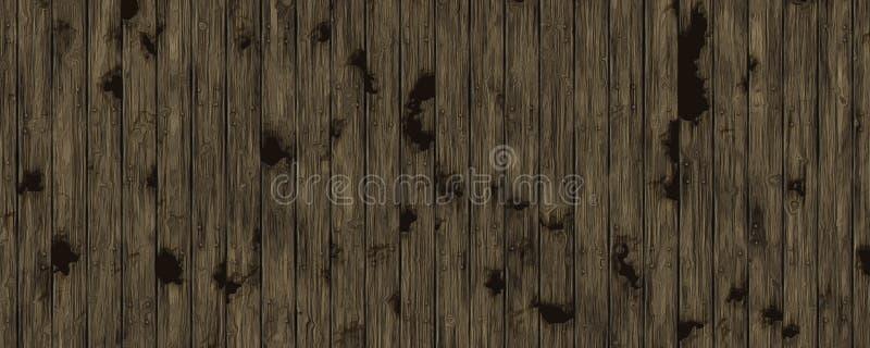 3D例证木板条背景 向量例证