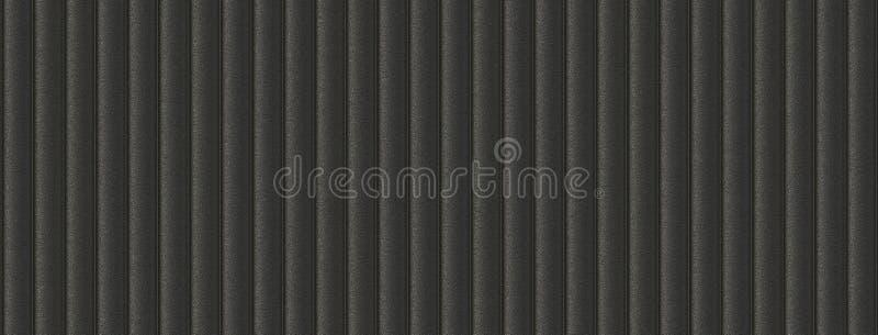 3d例证沙发皮革黑无缝的背景 向量例证