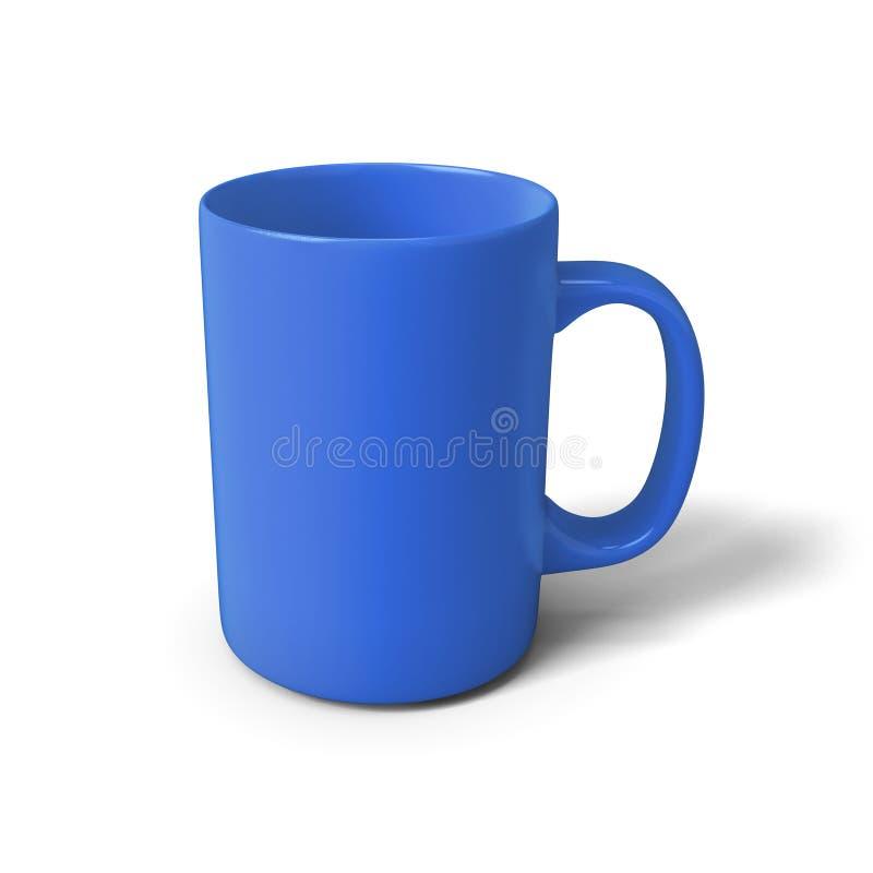 3d例证蓝色杯子 皇族释放例证