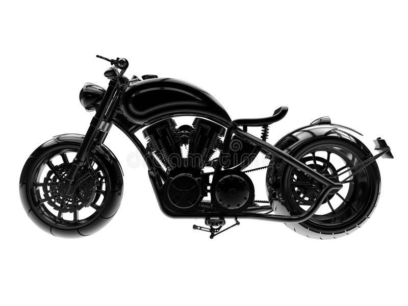 3D例证-侧视图摩托车 向量例证