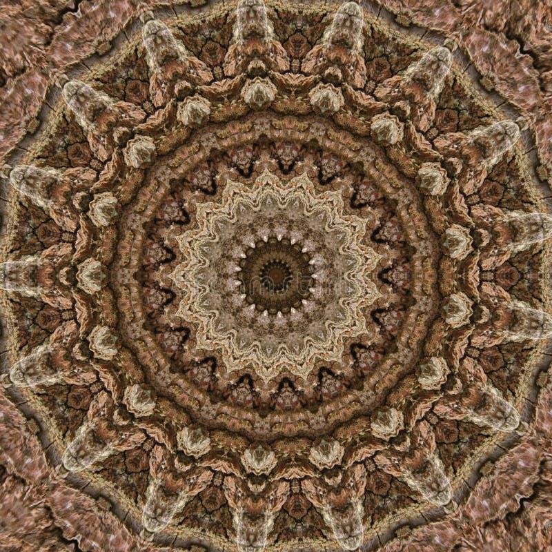 3d例证 树的吠声的木表面的抽象图象 皇族释放例证