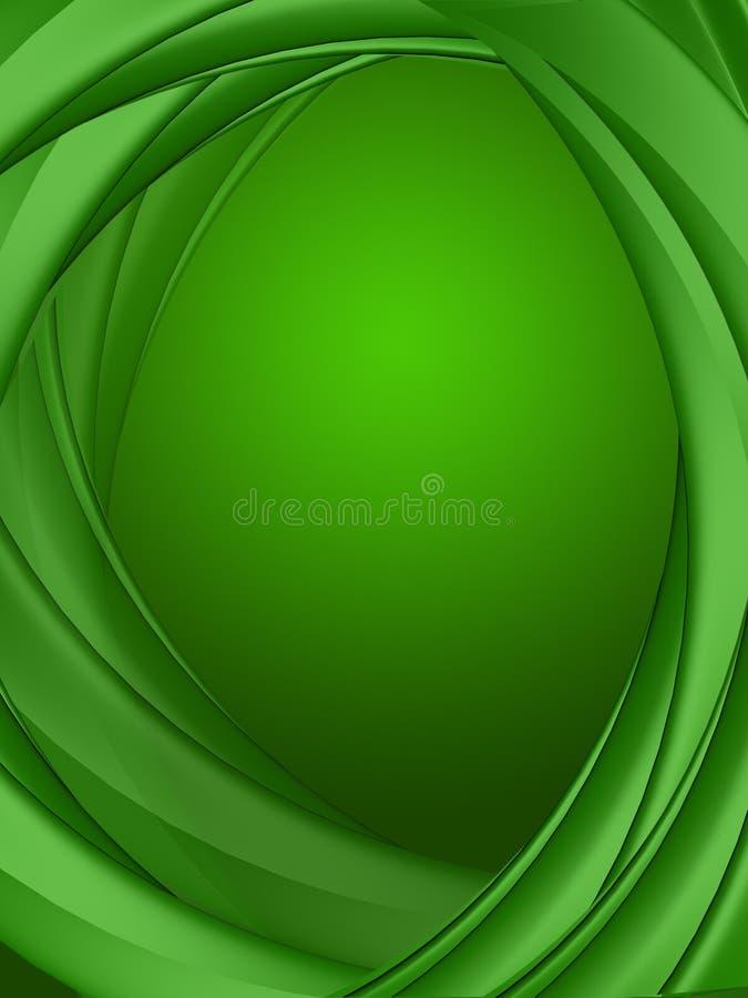 3d例证绿色背景 向量例证