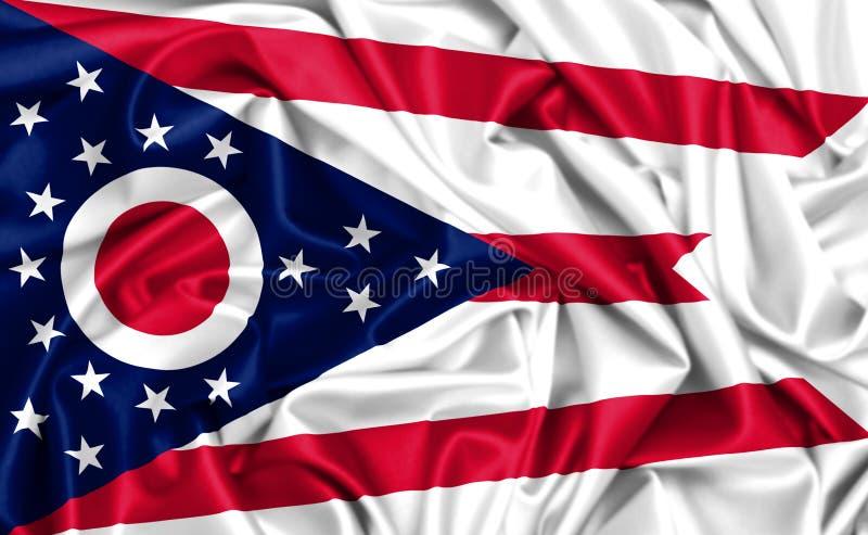 3d俄亥俄的挥动的旗子 皇族释放例证