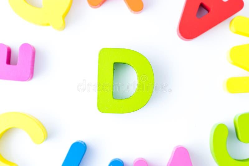 D信件用英语 免版税库存照片