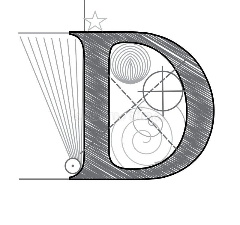 d信函 向量例证