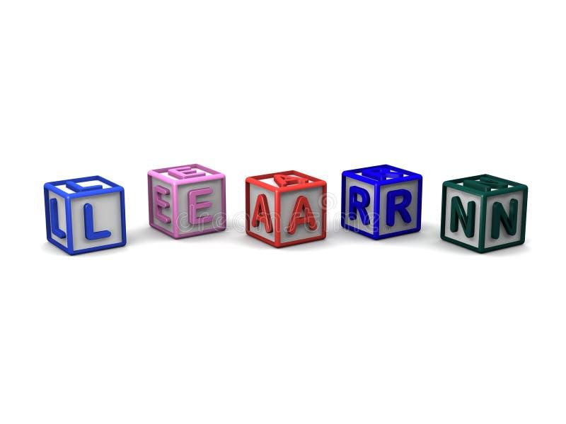 信件立方体拼写学会 向量例证