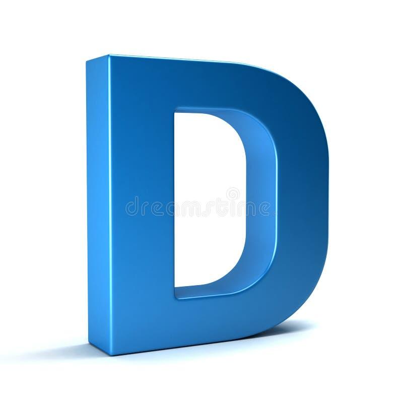 D信件 3d回报 皇族释放例证