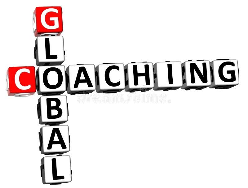 3D全球性教练的纵横填字谜 皇族释放例证