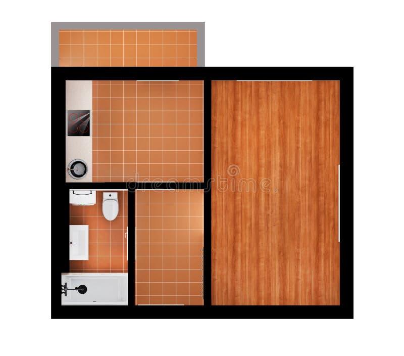 3d公寓计划 向量例证