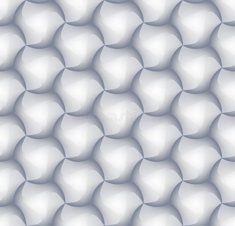 3d六角形瓦片装饰和设计瓦片的砖样式 向量例证