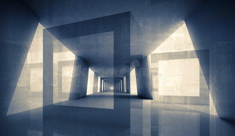 3d几何抽象的背景 库存例证