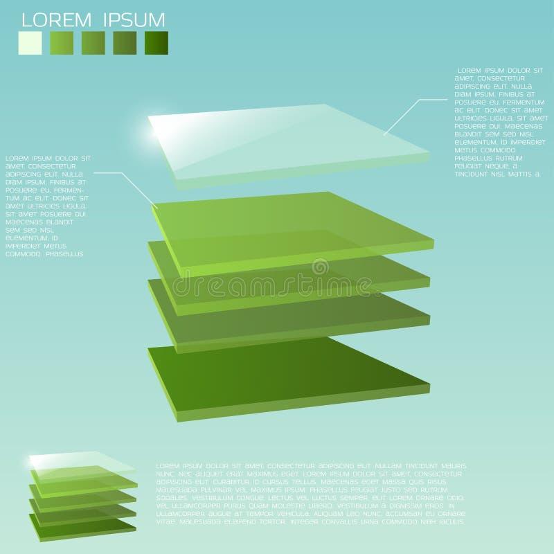 3d分层堆积背景 向量例证
