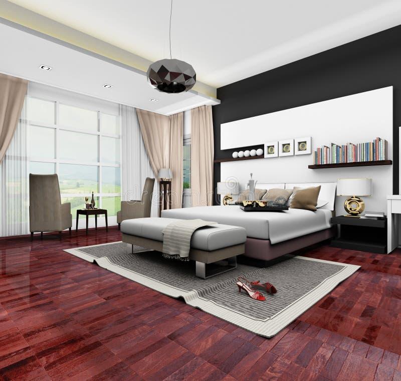 3d卧室设计 库存图片