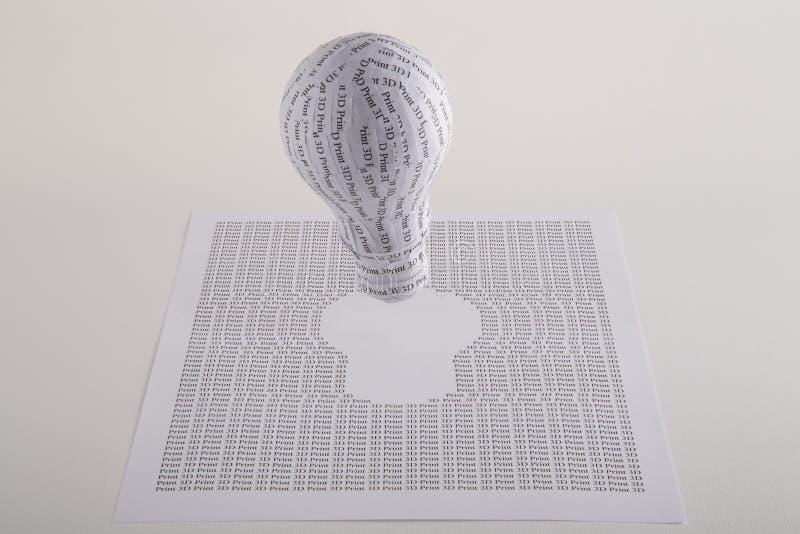 3d印刷品原型 库存图片