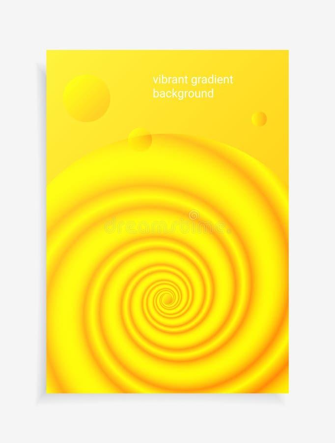 3D可变的五颜六色的塔盘进出口液位高差背景 现代抽象梯度塑造构成 向量例证