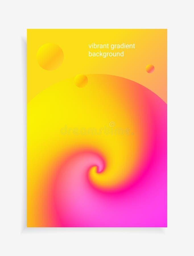 3D可变的五颜六色的塔盘进出口液位高差背景 现代抽象梯度塑造构成 库存例证