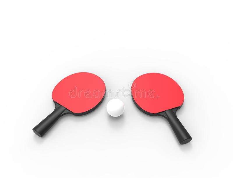 3D台球球拍翻译在白色backgorund隔绝的 向量例证