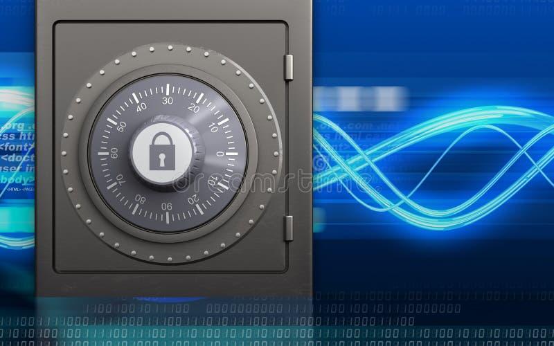3d号码锁金属保险柜 向量例证