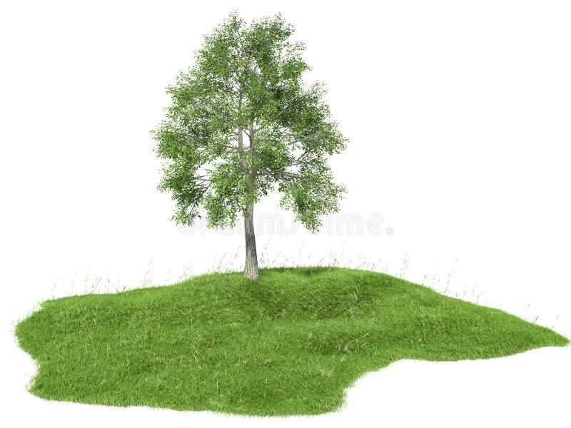 3d回报了一个海岛的例证有树漂浮的 皇族释放例证