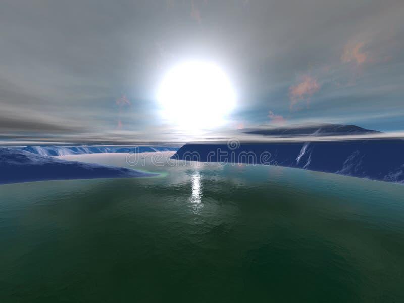 3D回报了外籍人Worldr的例证 皇族释放例证