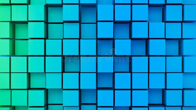 3d回报了抽象立方体 库存例证