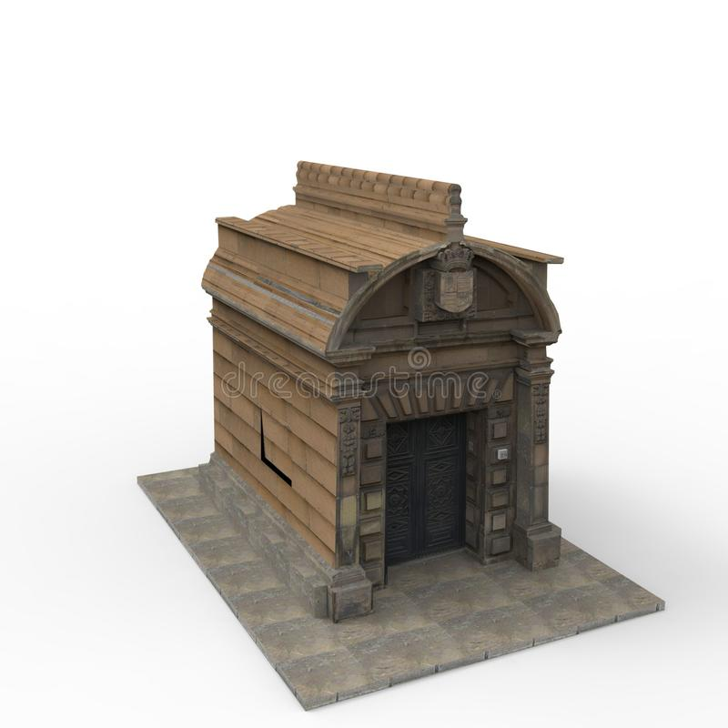 3D回报从搅拌器应用的家庭空间设计结果 库存例证