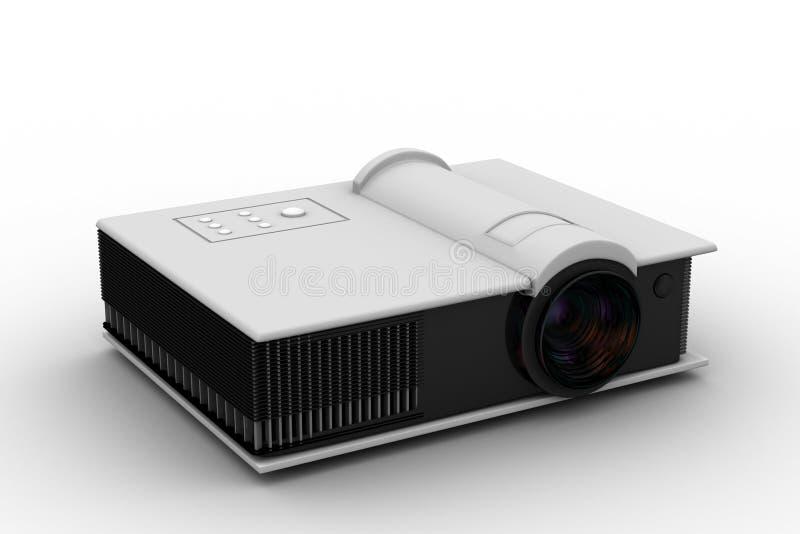 3d回报充分的HD放映机 免版税库存图片
